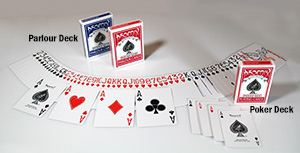 Comparison Parlour cards to Poker cards
